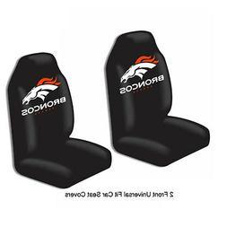 NFL Denver Broncos Car Truck 2 Front Seat Covers Set - Offic
