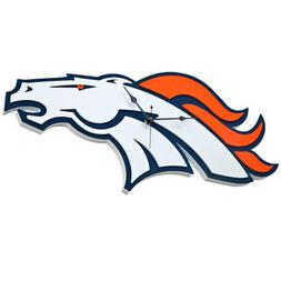 Foam Fanatics NFL Denver Broncos 3-D Foam Wall Clock Home Of