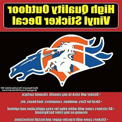 broncos many designs and sizes car window