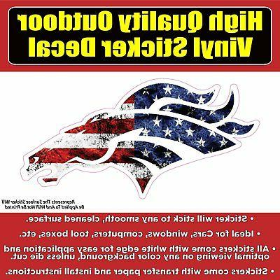 denver broncos american usa flag vinyl car