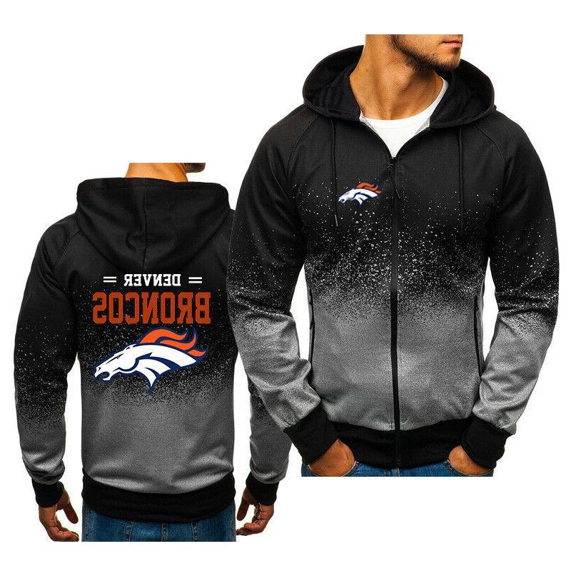 denver broncos fan hoodie jacket sporty sweatshirt