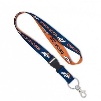 denver broncos lanyard with detachable buckle new