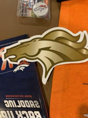 Denver NFL Pack Hats Towel Sticker Magazines