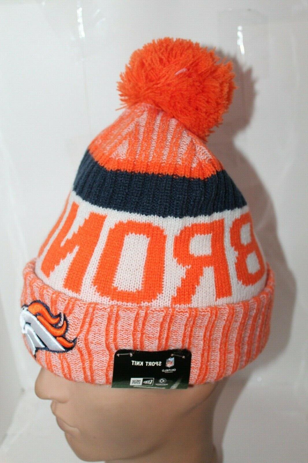 Denver Broncos NFL New Pom Winter Hat $ 30 NEW