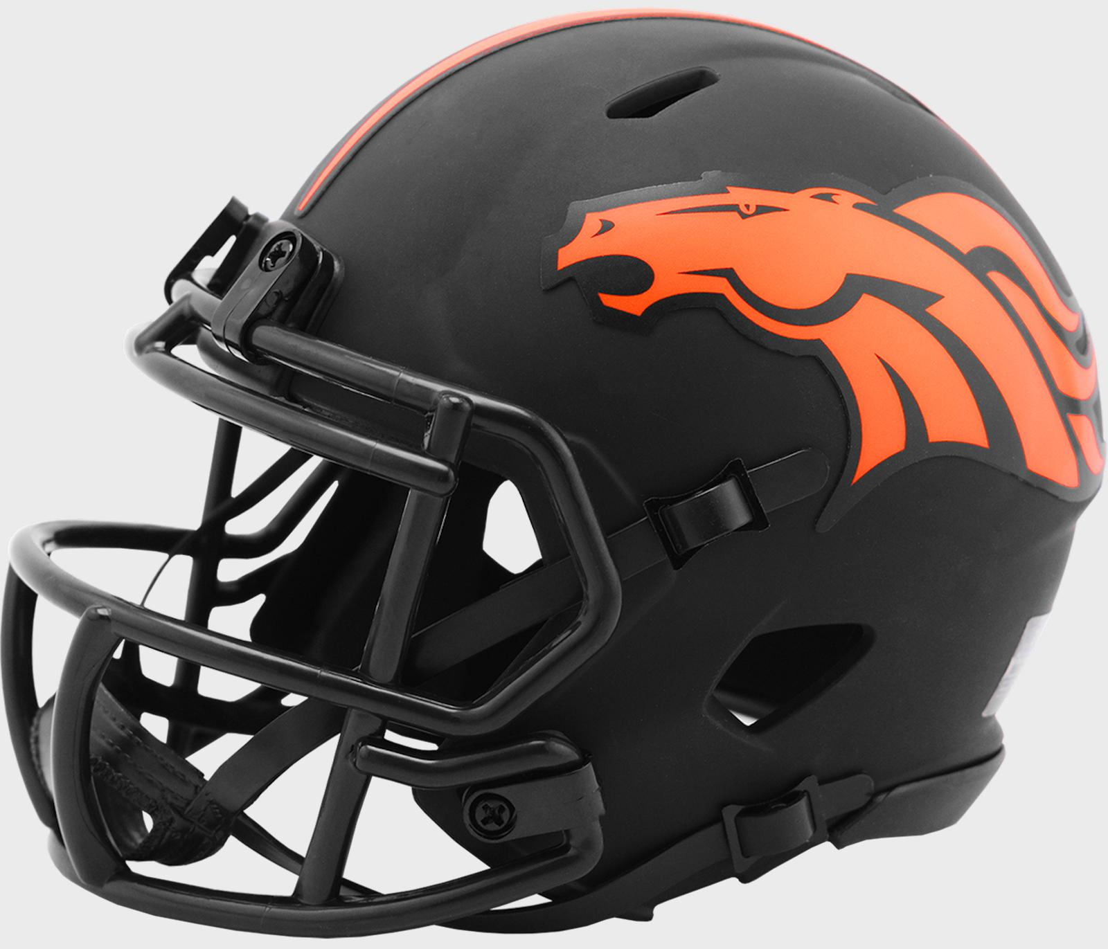 DENVER BRONCOS NFL Riddell SPEED Mini Football Helmet BLACK