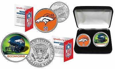denver broncos officially licensed nfl 2 coin