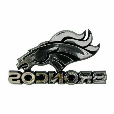 denver broncos plastic chrome 3d emblem automotive
