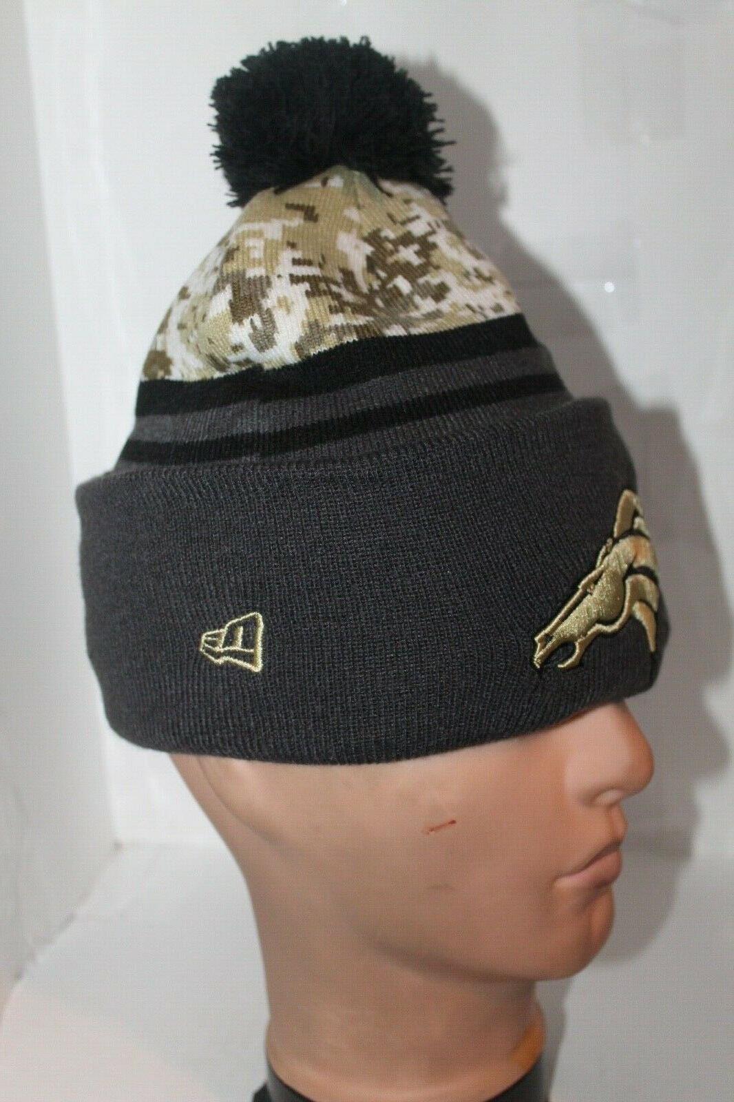 Denver Broncos Salute To Service Era Cuffed Sport Pom Hat ** RARE**