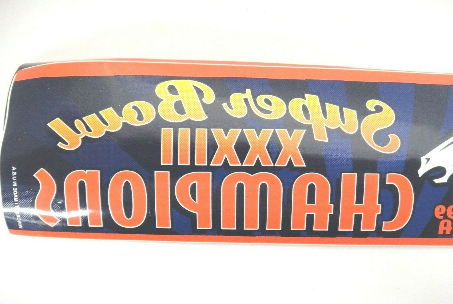 Denver Broncos Super XXXIII 2 Bumper Stickers 1999