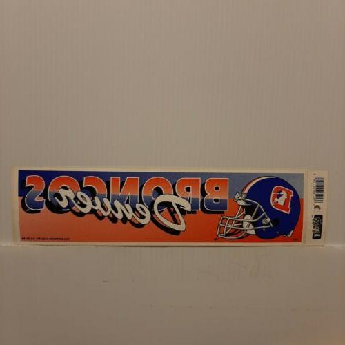 denver broncos vintage team bumper sticker 1990