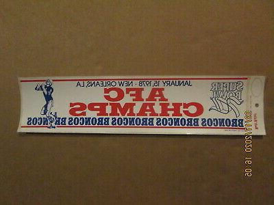 nfl denver broncos vintage 1978 afc champs