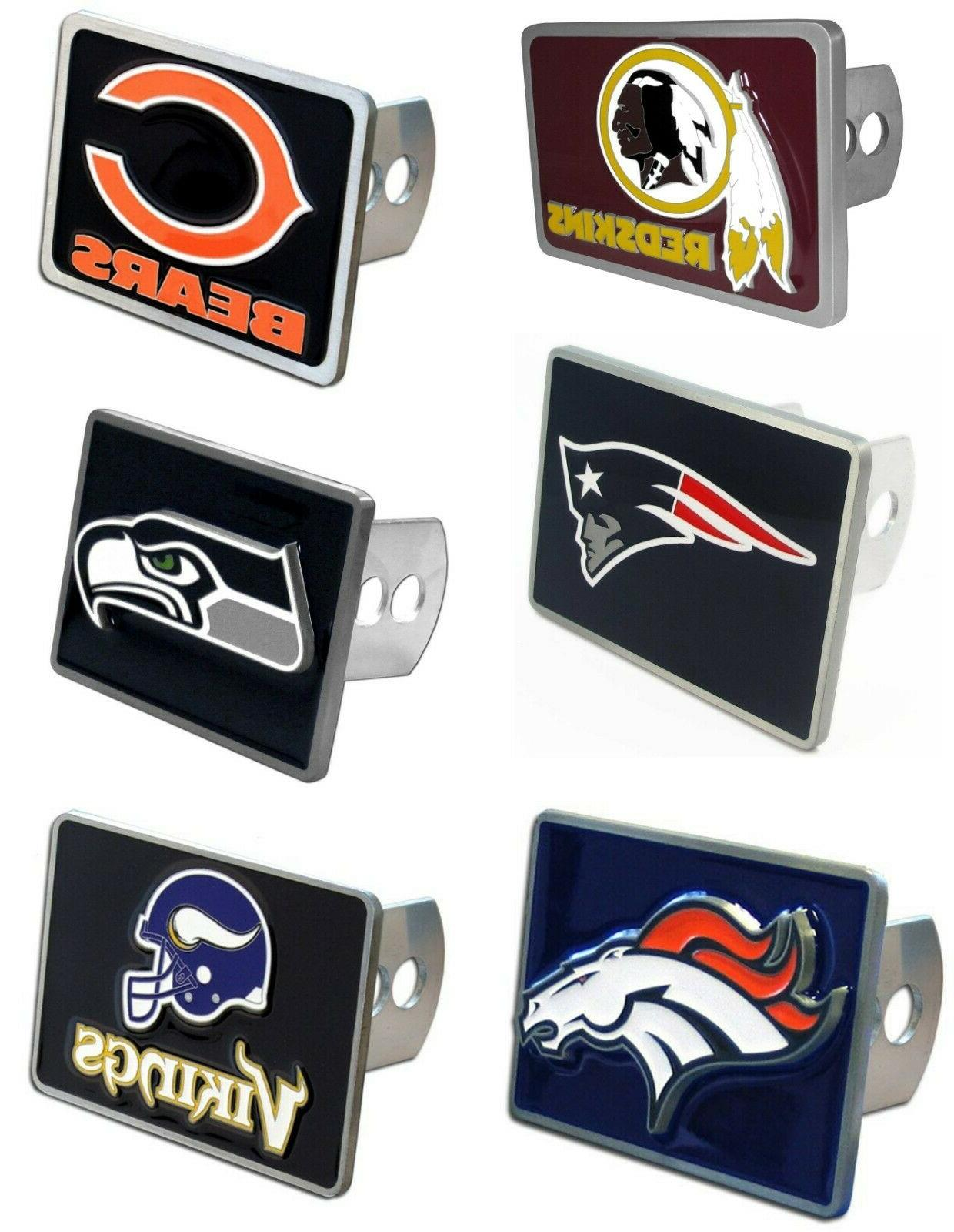 nfl team rectangle trailer hitch cover pick