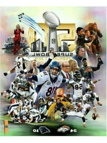 Super Bowl Champion Denver Replica Mens 10 W/WOOD