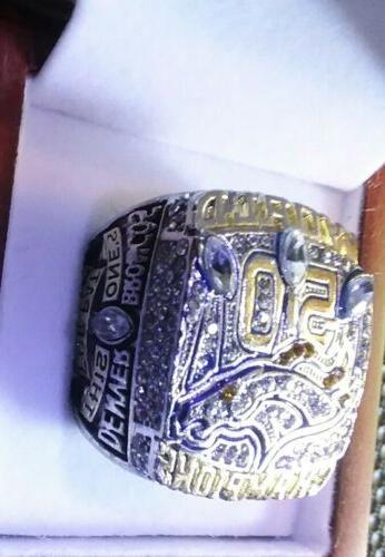 Super 50 Denver Replica Ring Mens W/WOOD BOX