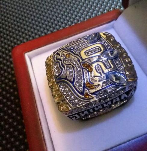 super bowl 50 denver broncos replica ring