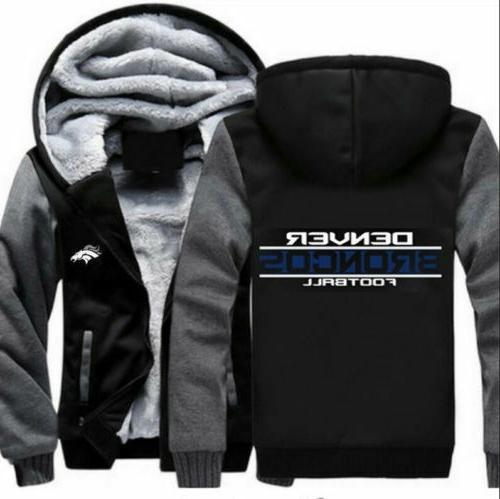 winter thicken football hoodies denver broncos sweatshirt