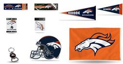 NEW Denver Broncos NFL Mini Pennat,Bumper Sticker,Static Cli