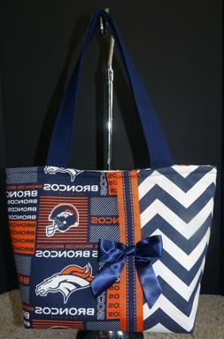 NEW Handmade Denver Broncos NFL Football Tote Purse Handbag