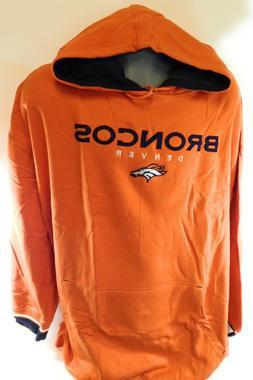 NEW Mens NFL Majestic Denver Broncos Orange Pullover Fleece