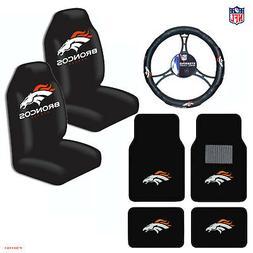 New NFL Denver Broncos Car Truck Seat Covers Floor Mats Stee