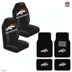 New NFL Denver Broncos Car Truck  Seat Covers & Carpet Floor