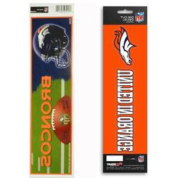 New NFL Denver Broncos Die-Cut Vinyl Slogan Decal and Bumper