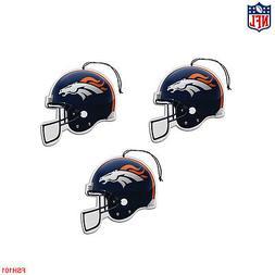 New NFL Denver Broncos Paper Hanging Air Freshener 3 pack Of