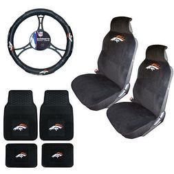 New NFL Denver Broncos Sideless Seat Covers Floor Mats Steer