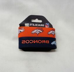 NFL Denver Broncos 2 Pack Bracelet Wrist Bands Set Rubber PV