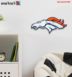 New NFL Denver Broncos Home Decor EVA Foam 3D Wall Clock 21.