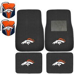 NFL Denver Broncos Car Truck Carpet Floor Mats & Hanging Air