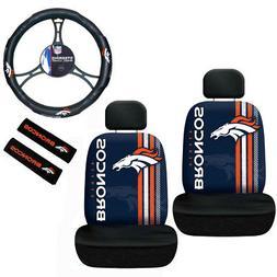 NFL Denver Broncos Car Truck Seat Covers Seatbelt Pads & Ste