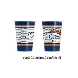 NFL Denver Broncos Disposable Paper Cups