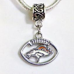 NFL Denver Broncos Football Pendant/Charm for Bracelet, Neck