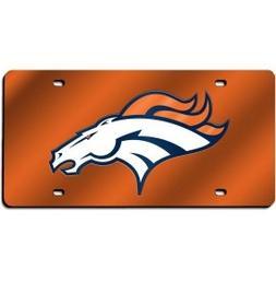 NFL Denver Broncos Laser Cut License Plate, Orange