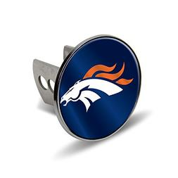 Rico NFL Denver Broncos Laser Cut Metal Hitch Cover, Large,
