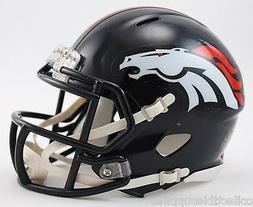 NFL Riddell Denver Broncos Mini Speed Helmet - Navy Blue