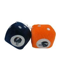 NFL Denver Broncos Plush Fuzzy Dice Auto Accessories