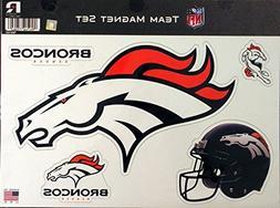 """NFL Denver Broncos NFL Team Magnet Sheet, Blue, 11"""" x 8.5"""" x"""