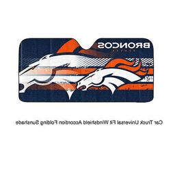 NFL Denver Broncos Universal Auto Shade, Large, Blue