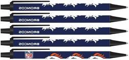 NFL Denver Broncos Disposable Black Ink Click Pens, 5-Pack