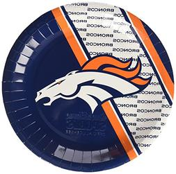 NFL Denver Broncos Disposable Paper Plate