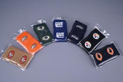 *NFL EMBROIDERED TERRY CLOTH TEAM WRISTBANDS BY FRANKLIN SPO