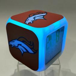 Denver Broncos LED Digital Alarm Clock Watch Lamp Decor Gift