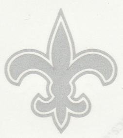 REFLECTIVE New Orleans Saints 2 inch fire helmet hard hat de