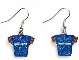 Sports Team Denver Broncos Jersey Dangle Glitter Earring Set