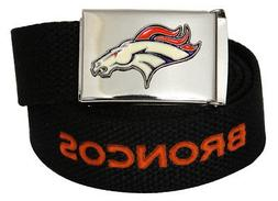 Web Belt with Buckle Denver Broncos