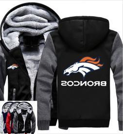 winter thicken hoodie team denver broncos warm