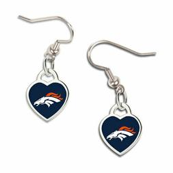 Wincraft Women 3D Heart Earrings - NFL Denver Broncos